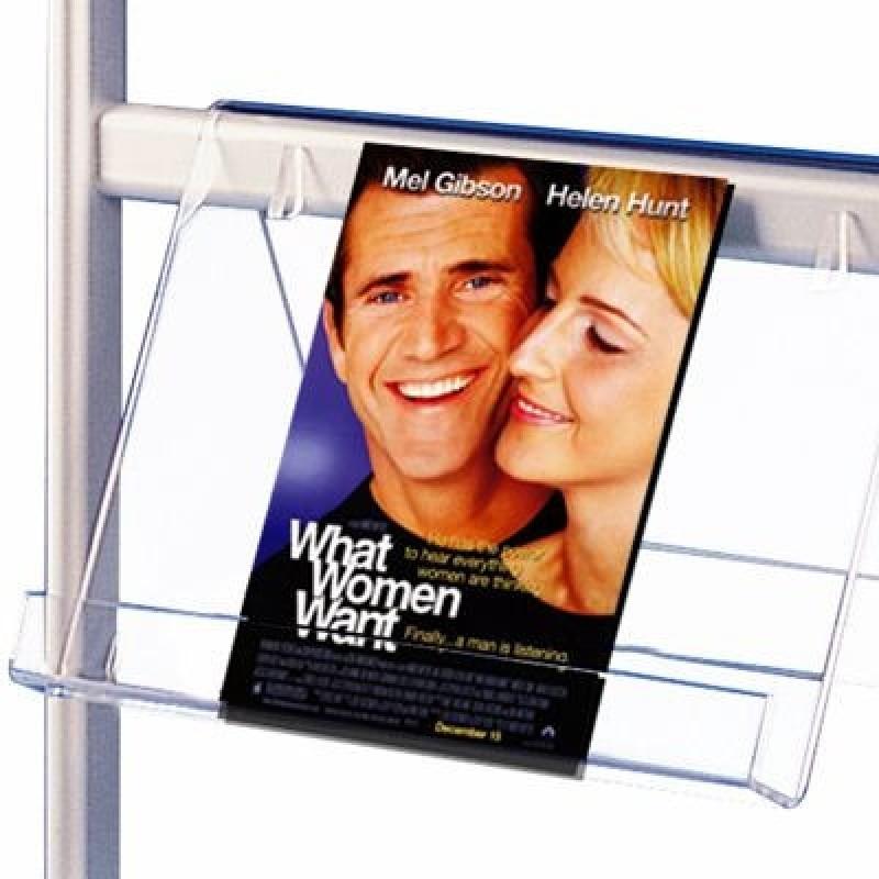 Fristående dubbelsidig broschyrstativ med affischram och broschyrhållare