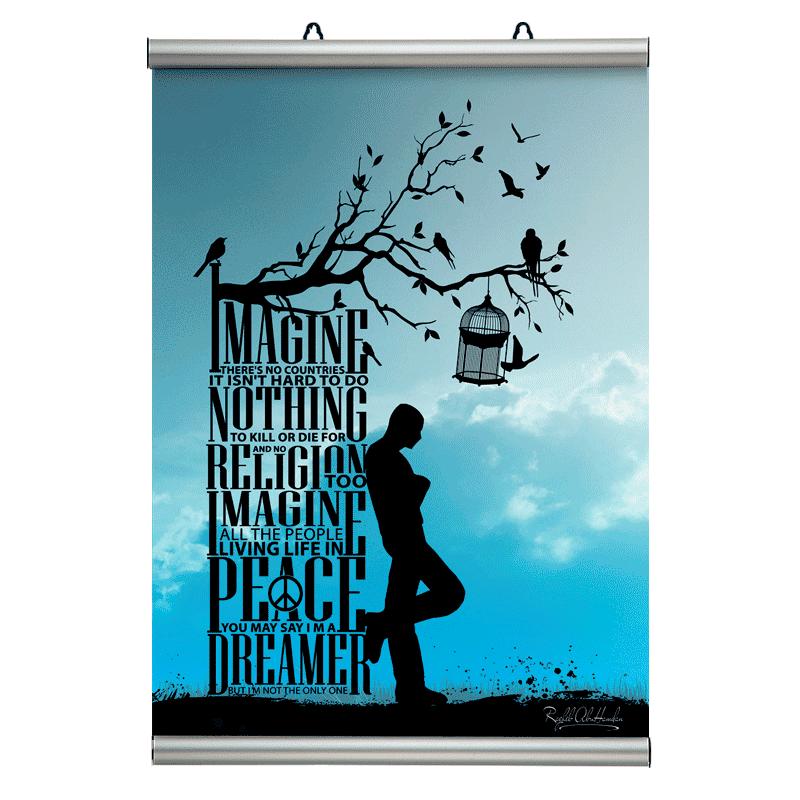 Affischram, Poster-Line 210mm. A4-30