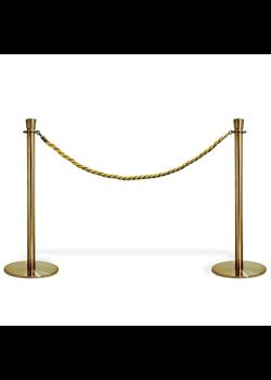 Köavskiljare – VIP-avspärrning i guld med guld rep-20