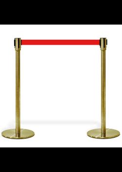 Köavskiljare – VIP-avspärrning i guld med rött band-20