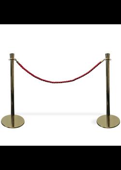 Köavskiljare – VIP-avspärrning i guld med rött rep-20