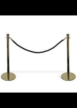 Köavskiljare – VIP-avspärrning i guld med svart rep-20