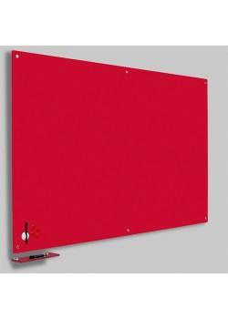 Magnetisk Glastavle Rød 90x120 cm.-20