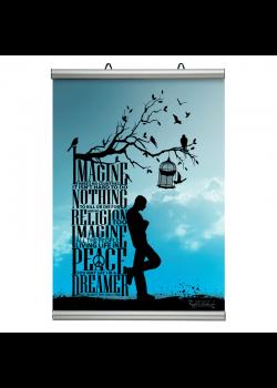 Affischram, Poster-Line 500mm.-20