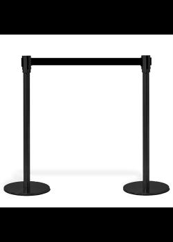 Köavskiljare – VIP-avspärrning i svart med svart band-20