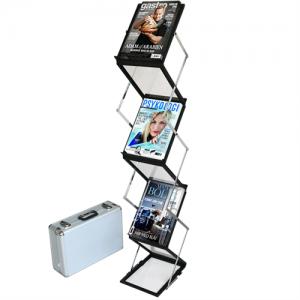 Flex broschyrställ 6 x A5 - Svart